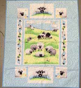 Sean the Sheep Cot Quilt