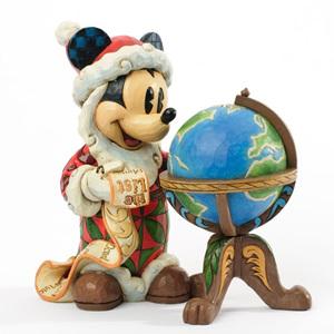 Season's Greetings Around the World St Mick with Globe Figurine - Jim Shore