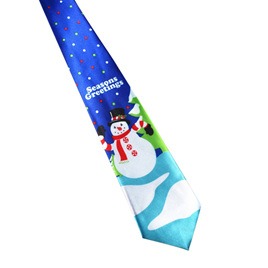SEASONS GREETINGS SNOWMAN CHRISTMAS NOLVETY TIE