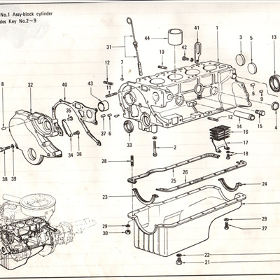 Sec 3 - Cylinder Block, Front Cover and Oil Pan
