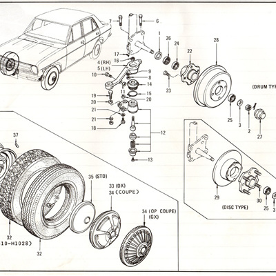 Sec 60 - Front Axle, Road Wheel and Tire