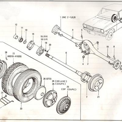 Sec 62 - Rear Axle, Road Wheel and Tire