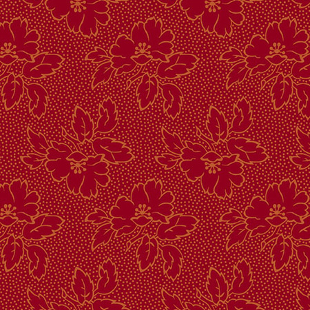 Secret Stash Warms Silhouette Floral Red A-8752-R