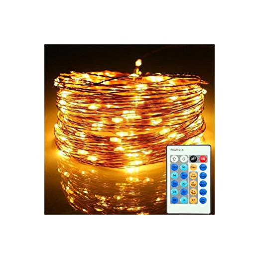 10m Plug In Copper Wire Seed Fairy Lights With Remote