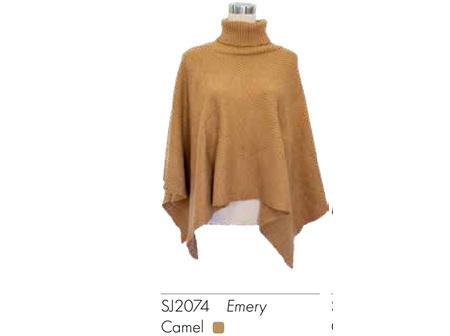 SELect Poncho Emery Camel