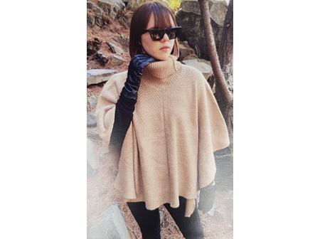 SELect Poncho Emery Camel