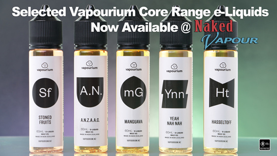 Selected Vapourium Core Range e-Liquids