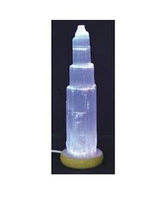 Selenite USB Lamp Tall Mood Change S35L