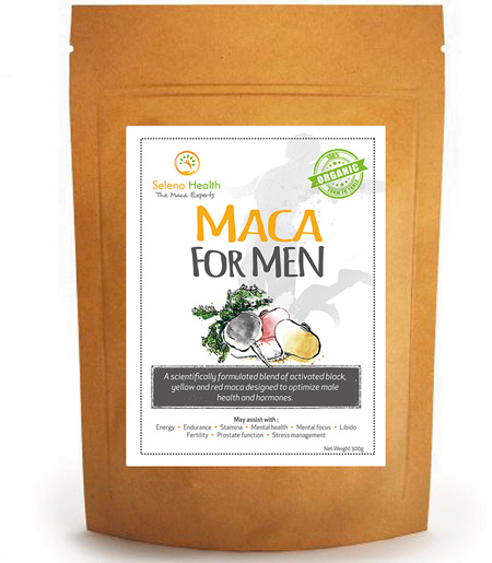 Seleno Health Maca for Men (loose powder & vegan caps)