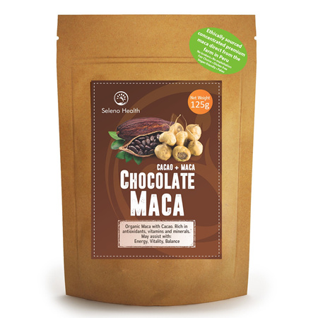 Seleno Health Organic Maca Chocolate 125g