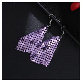 Sequin Elegant Earrings - PURPLE