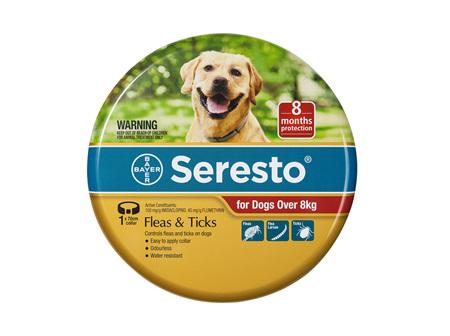 Seresto® Flea & Tick Collar for Dogs Over 8kg