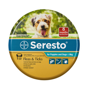 Seresto® Flea & Tick Collar for Puppies and Dogs  less than 8kg