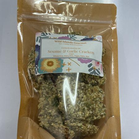 Sesame & Garlic Crackers - 150g