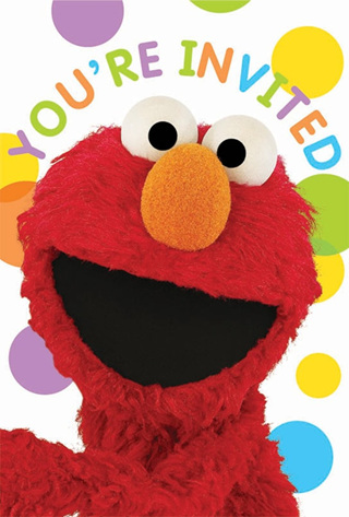Sesame Street - Party Invites