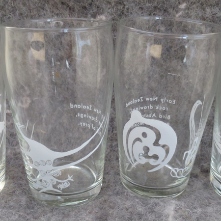 Set 4 glass tumblers