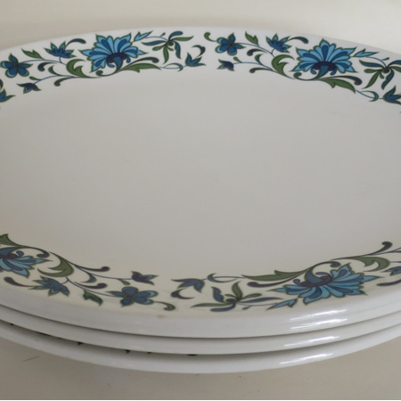Set 4 oval dinner plate