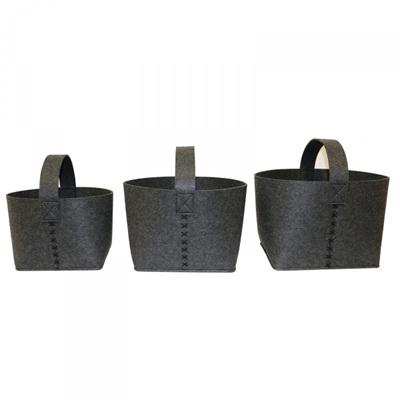 SET OF 3 FELT STORAGE BAGS