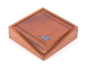Set of 4 Coasters in Wooden Holder