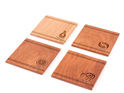 set of 4 coasters with icon - rimu - made in new zealand