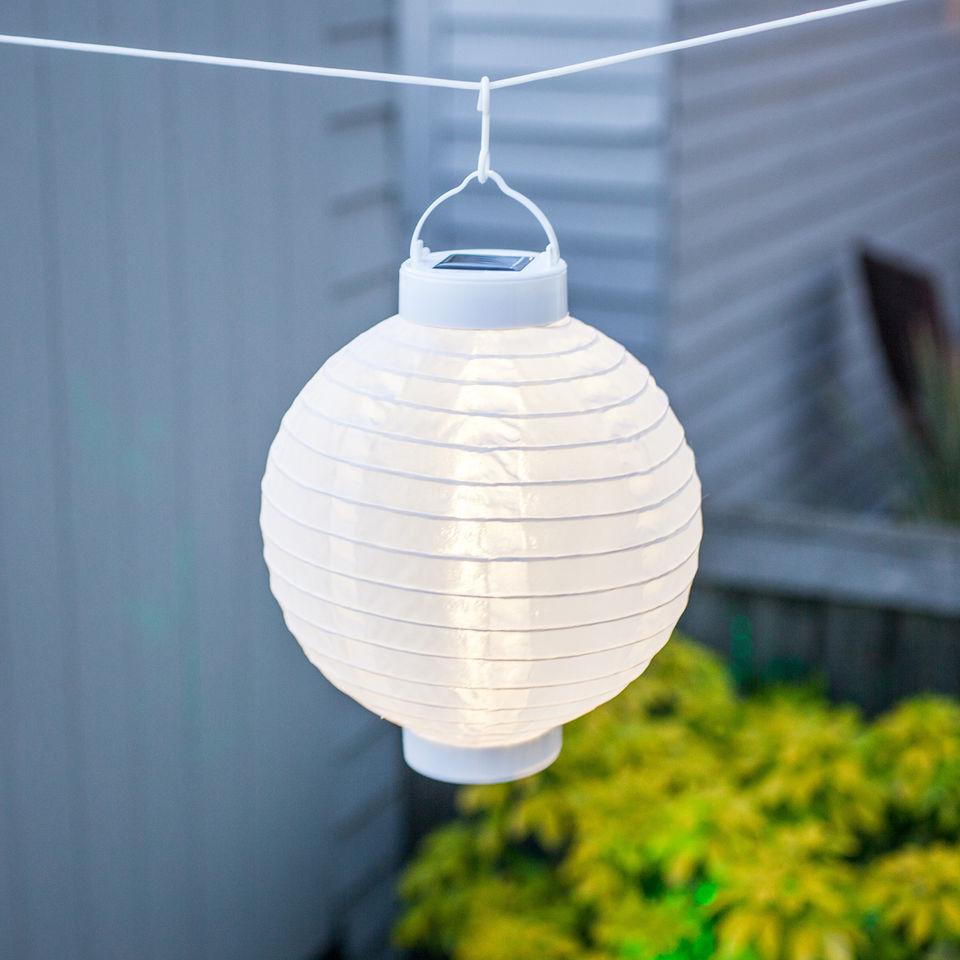 set of 4 soji solar outdoor lanterns 20cm 10 white party lights company. Black Bedroom Furniture Sets. Home Design Ideas