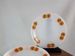 Set of 5 Vintage Schott Mainz Jena Glass Side Plates