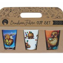 Set of Three Bamboo Cups
