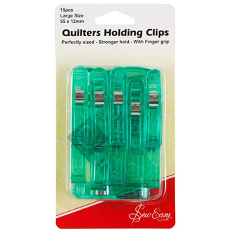 Sew Easy Quilters Holding Clips 15 Pack