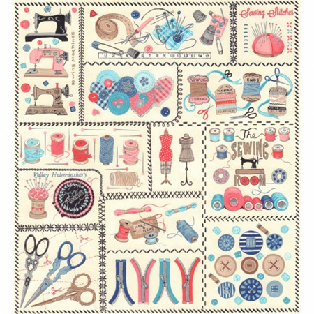 Sew Vintage Panel NT80590101