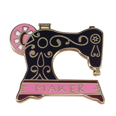 Sewing Machine Maker Enamel Pin
