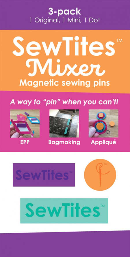 SewTites Mixer 3 Pack Magnetic Sewing Pins