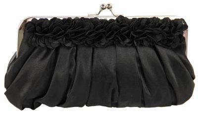 Shabby Chic Evening Bag: Black