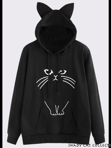 Shady Cat Hoodie for Cat Parents!