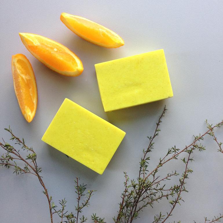 Shampoo bar turmeric tea tree orange kids organic natural zero waste liquid nz