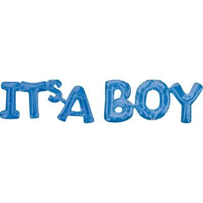 Shape Script ' ITS A BOY' Foil