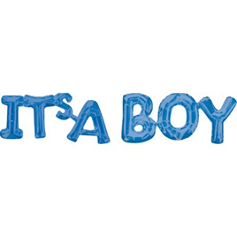 Shape Script ' ITS A BOY' Foil