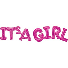 Shape Script ' ITS A GIRL' Foil