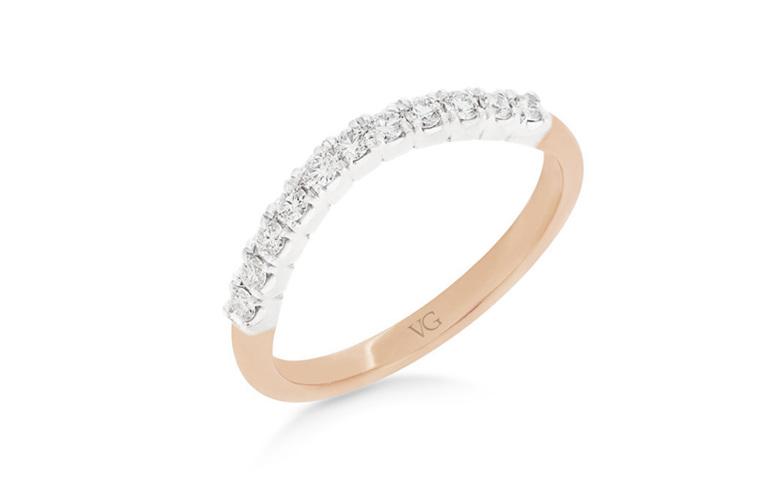 Shaped Diamond Wedding Ring