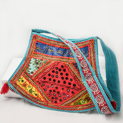 Shaped Indian Mirror Bag