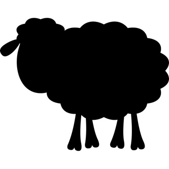 Sheep - Blackboard Wall Decal