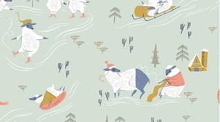 Sheepish Misty Snow Day 1344