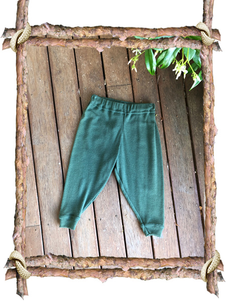 'Shelby' Trackies, 'Aniseed' 100% NZ Merino, 9-12 months