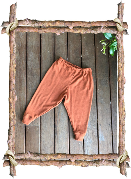 'Shelby' Trackies, 'Copper' 100% NZ Merino, 9-12 months