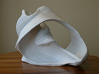 shell form sculpture by Annabelle B. Rodger - approx 10 X life-size