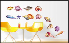 SHELLS wall decal