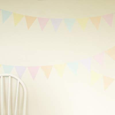 Sherbet Fizz triangles wall decal
