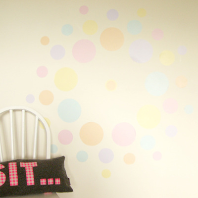Sherbet Fizz dots wall decal