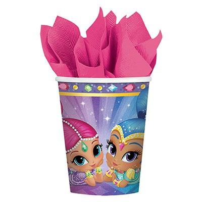 Shimmer & Shine cups x 8