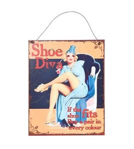 Shoe Diva - Metal Plaque