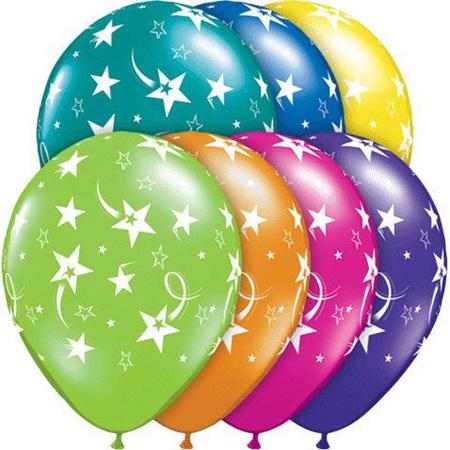 Shooting stars balloons latex x 1